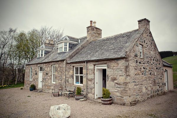 Wedding Of The Week Scottish Countryside Stone Cottages