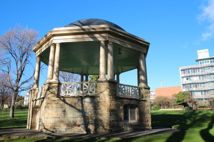 The rotunda in St David's Park in Hobart, just north of the Novel Writing Retreats Australia property.  For more about the local area around the Novel Writing Retreats Australia property, see http://www.novelwritingretreatsaustralia.com/p/location.html.