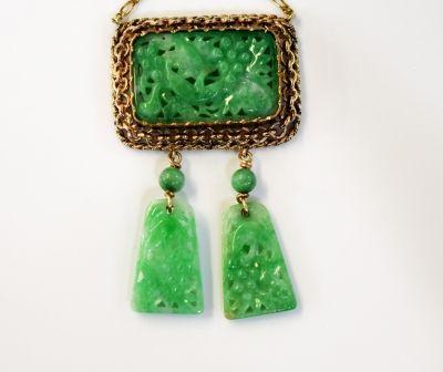 Pretty apple green.  #jadeite #carved #necklace