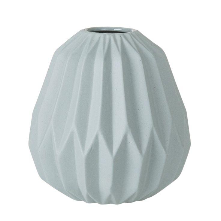 Vase med plissé 15x15x16 cm