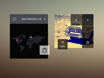 Photo and Map Widget