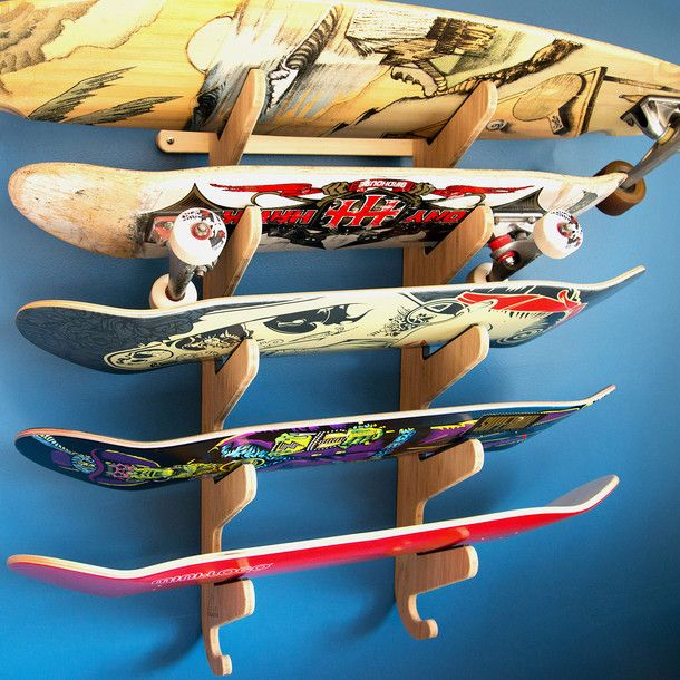 The Moloka'i Pro Skateboard Rack by Grassracks | Fab.com