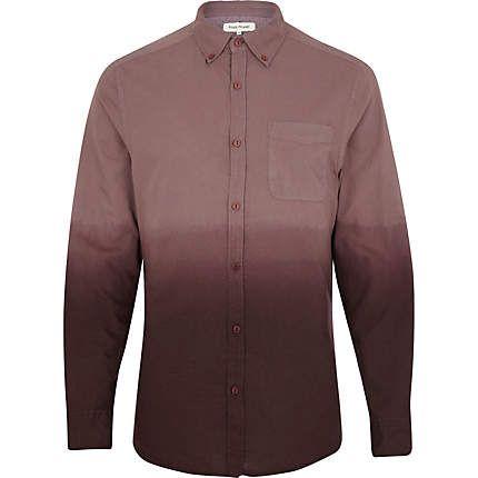 Red dip dye Oxford shirt - shirts - sale - men