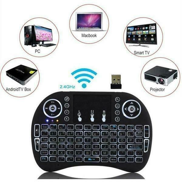Mini i8 2.4G Air Mouse Wireless Keyboard with Touchpad Black Computer Games Play