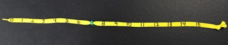 Here's a great post on using a shoestring (literally) to help students understand number lines.