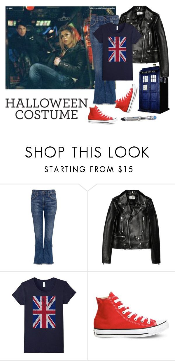 """Halloween Costume 2K17: Rose Tyler"" by kaye9260 on Polyvore featuring Citizens of Humanity, Yves Saint Laurent, Converse, doctorwho, rosetyler and halloweencostume"