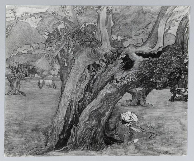 Oude eiken in Surrey - Het Geheugen van Nederland - Online beeldbank van Archieven, Musea en Bibliotheken