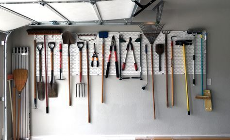 Neat and tidy just makes you feel good. Get your garage organized and those brooms and shovels off the ground with a Wall Control Storage System. Thanks for the great photo of your Wall Control garage pegboard system Janice! #Garage #Pegboard #WallControl #ToolStorage