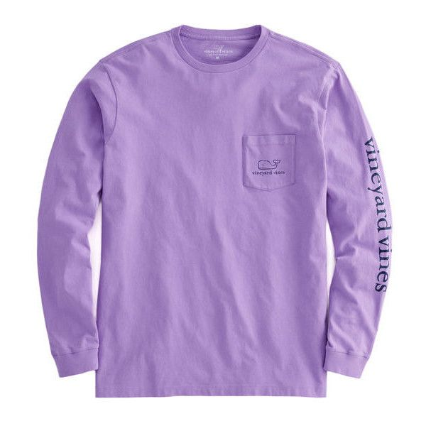 T-Shirts ($35) ❤ liked on Polyvore featuring tops, t-shirts, purple t shirt, purple tee, purple top and preppy t shirts