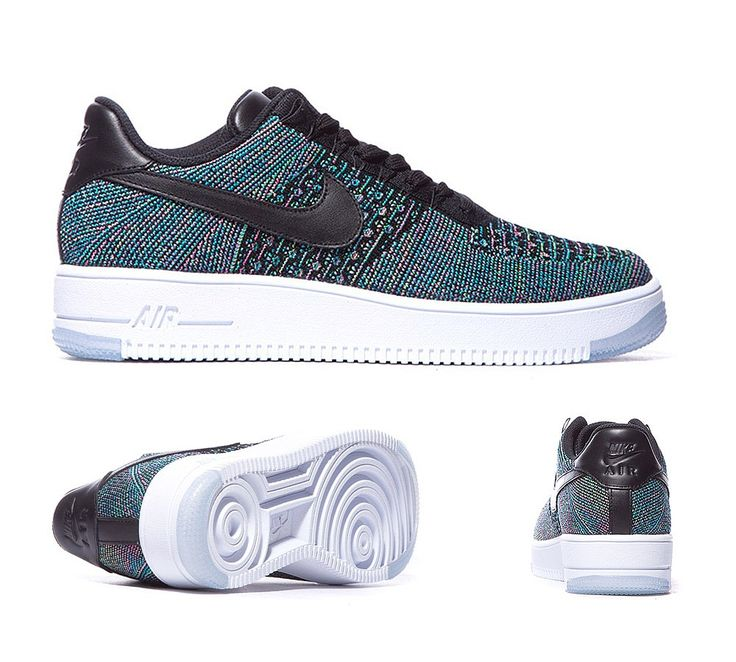 Nike Air Force 1 Ultra Flyknit Low Trainers Black Voltage Green S92193