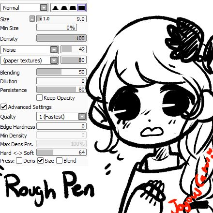 paint tool sai how to make ink pen
