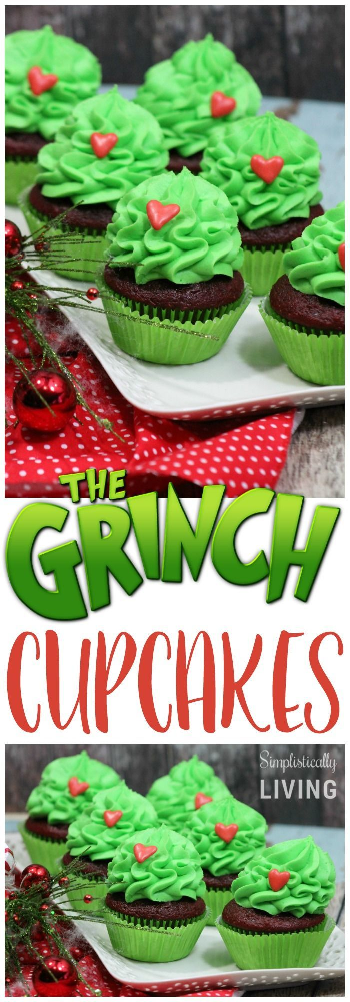 The Grinch Cupcakes Simplistically Living
