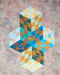 karen combs: Textile Artists, Karen Combs, 20416 Byte, Tumbling Blocks, Quilts Blocks, 60 Degree Tumbling, Interesting Quilts, 4Cube Jpg 20416, Quilts Design