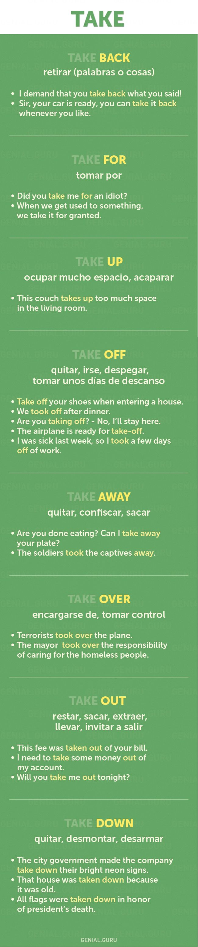 60+ frases con los verbos más necesarios en Inglés Repinned by Chesapeake College Adult Ed. We offer free classes on the Eastern Shore of MD to help you earn your GED - H.S. Diploma or Learn English (ESL). www.Chesapeake.edu