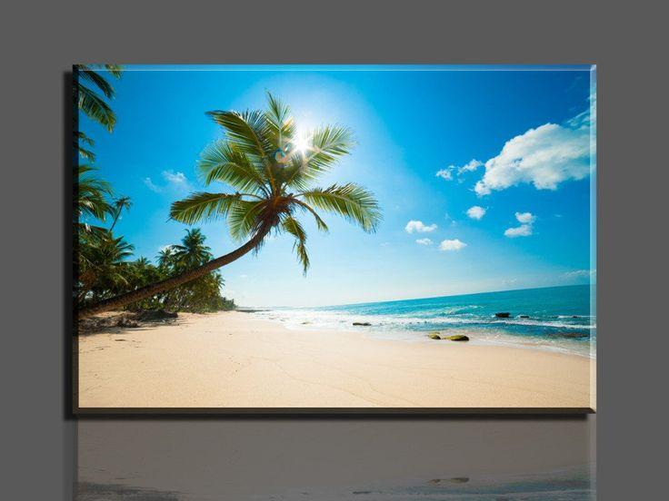 Beautiful beaches Canvas Ocean Art NO FRAME