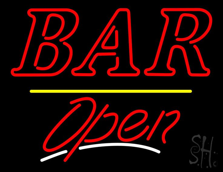 Bar Open Yellow Line Neon Sign 24 Tall x 31 Wide x 3 Deep, is 100% Handcrafted with Real Glass Tube Neon Sign. !!! Made in USA !!!  Colors on the sign are Red, Yellow and White. Bar Open Yellow Line Neon Sign is high impact, eye catching, real glass tube neon sign. This characteristic glow can attract customers like nothing else, virtually burning your identity into the minds of potential and future customers.