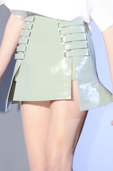 Thierry Mugler Spring 2013- I was interested on the sides of the skirt. They reminded me of skeleton.