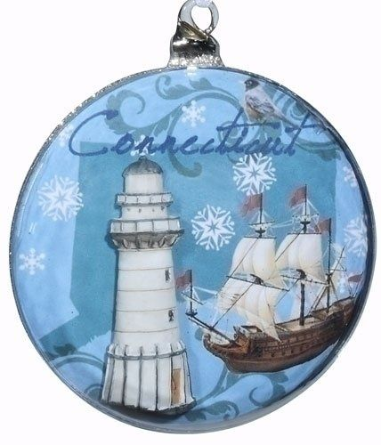 50-State Christmas Ornaments   Disk Christmas Ornaments 4.5 ...