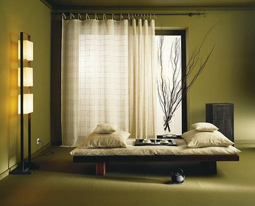 Green bedroom color scheme with minimalist interior design for Minimalist bedroom colors