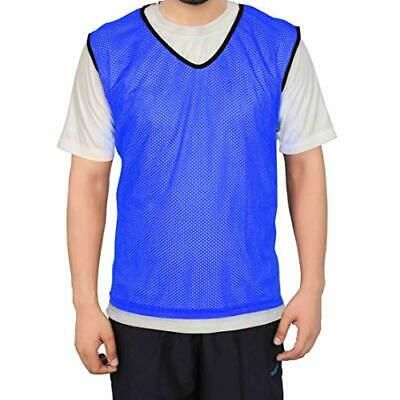 Advertisement Ebay Gsi Mesh Sports Training Bibs Pinnies Scrimmage Vests For Soccer Large Blue In 2020 Sports Training Mens Tops Soccer