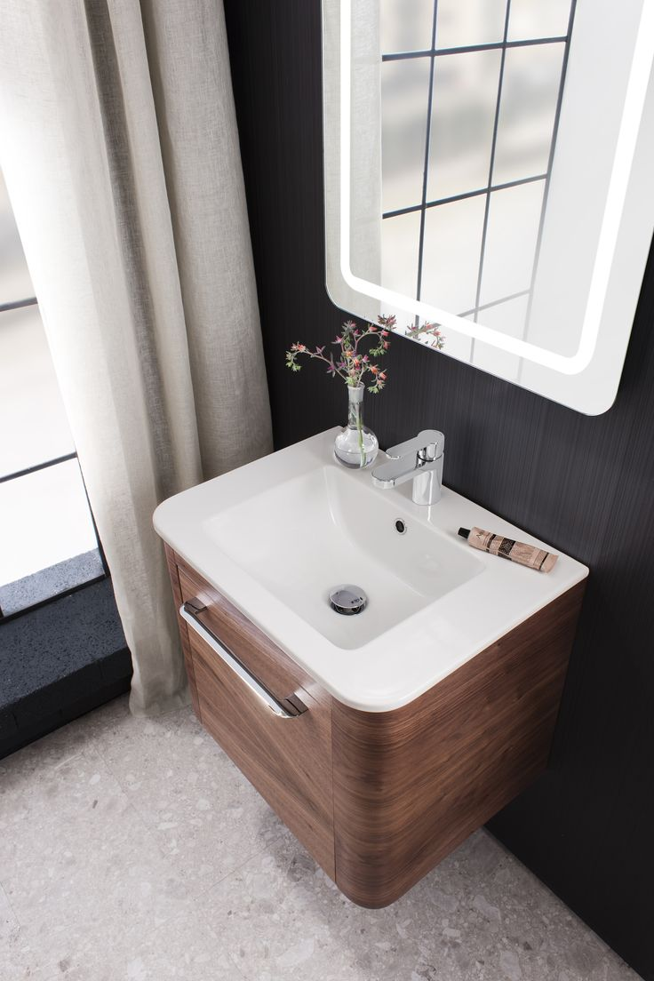 Walnut bathroom furniture uk - Adding A New Dimension To The Furniture Range With The Fireclay Basin S Smooth Appearance