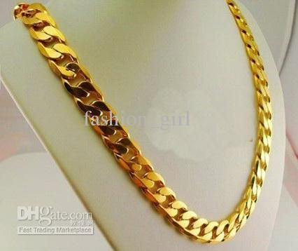 15% Off!Domineering Male Necklace Imitation Gold Necklace! Wedding Jewelry!Online with $26.21/Piece on Fashion_girl's Store | DHgate.com