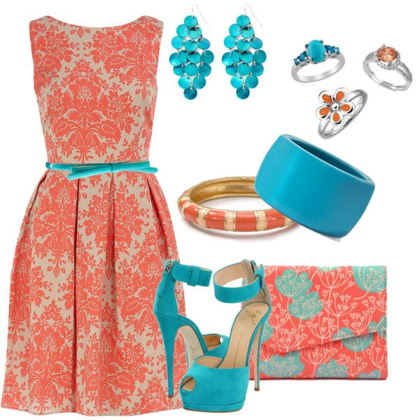 Coral and turquoise fashion trends pinterest color for Jewelry to wear with coral dress