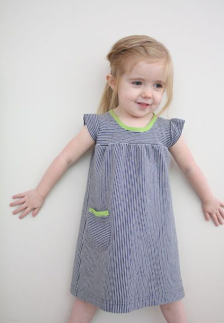 """The Playdate Dress"" from Craftiness is Not Optional - tutorial with size 2T pattern adjust for other sizes"