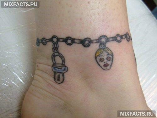 татуировки браслетом на ноге