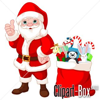 CLIPART SANTA WITH GIFTS | CLIPARTS | Pinterest