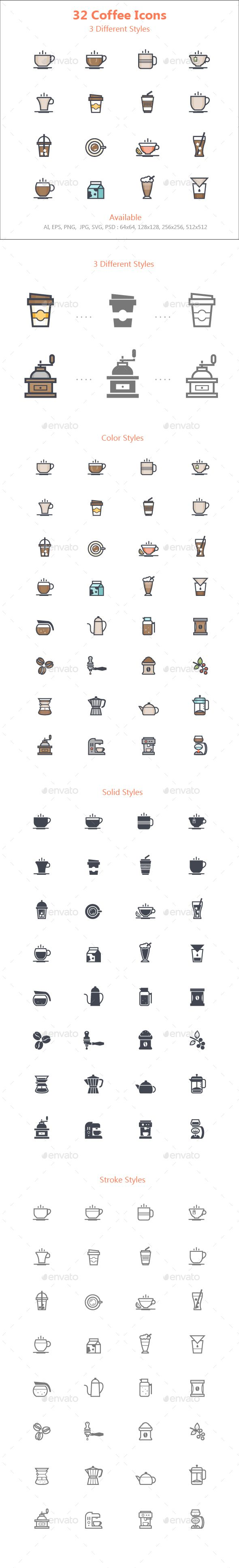 Coffee Icon — Photoshop PSD #outline stroke #tea • Available here → https://graphicriver.net/item/coffee-icon/18133331?ref=pxcr