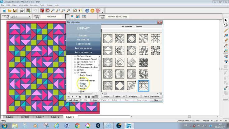 Sådan sætter du quiltemønstre på din quilt i EQ7