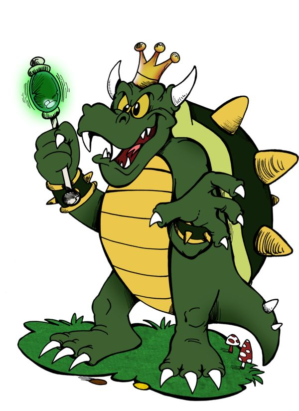 "3 King Koopa by Granitoons.deviantart.com on @DeviantArt #finktober #kingkoopa #supermariobrossupershow #granitoons ""Why thank you, Princess!""  From his Harvey Atkin phase. For Finktober."