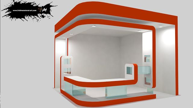 infografía 3d stand