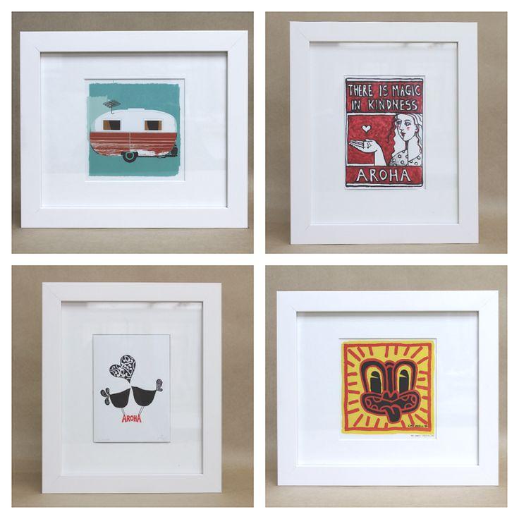 New framed prints by Kiwi Artists.