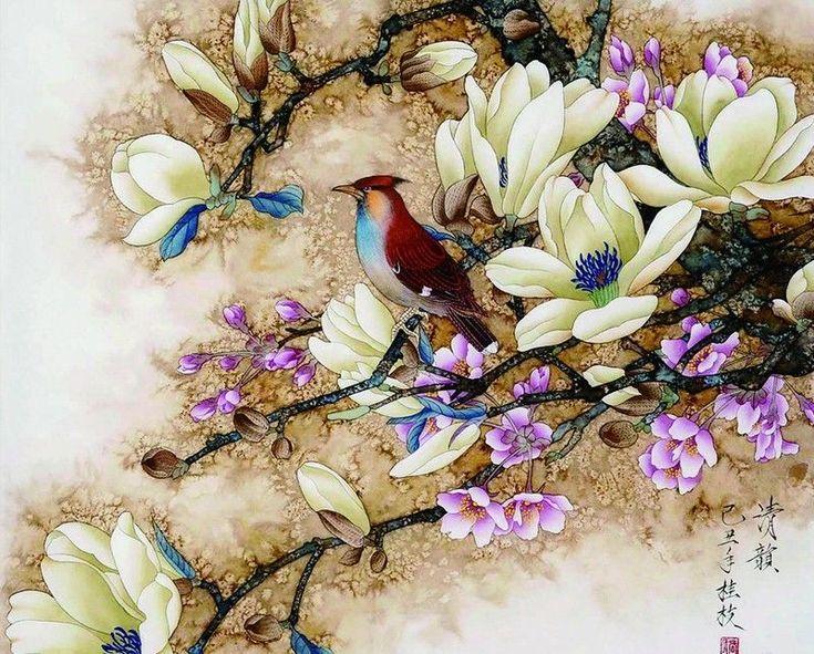 Self-Paint Oil Painting By Numbers Kit Nightingale Bird Art 40CMx50CM Canvas | eBay
