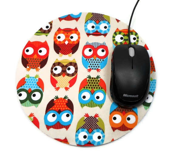 Bright Owls Mouse Pad.