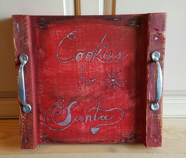 Cookie tray for Santa's cookies. SOLD