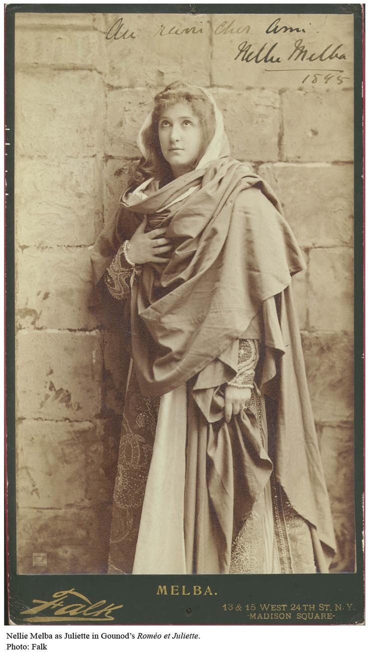 Nellie Melba in Costume.