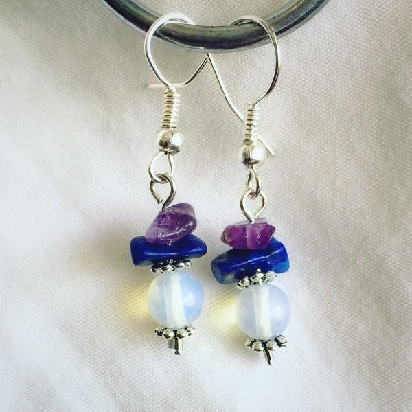 Amethyst, Lapis Lazuli and Moonstone Earrings – Soul4Style