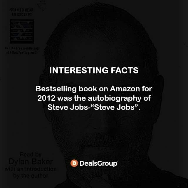 """Bestselling book on #Amazon for 2012 was the autobiography of Steve Jobs-""""Steve Jobs"""". #IntestingFacts #OnlineShopping"""