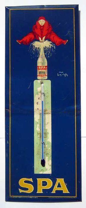Inspirational Spa sch nes Blechschild mit Thermometer ca x cm um Verkauf