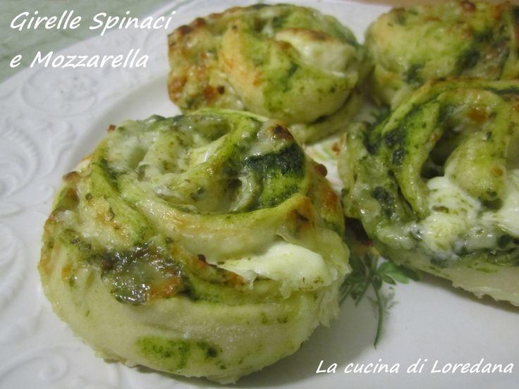 Girelle spinaci e mozzarella