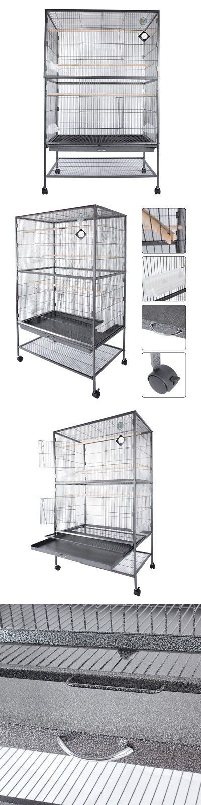 Cages 46289: New 60 Inch Large Bird Cage Parrot Finch Macaw Cockatoo Canary Pet Perch Grate -> BUY IT NOW ONLY: $75.99 on eBay!