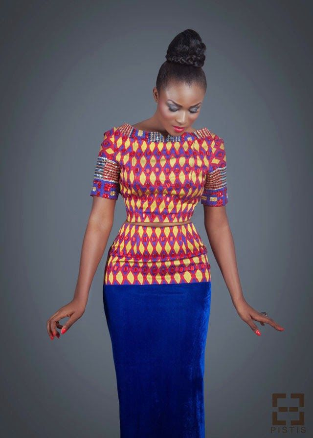 African print fashion dresses- Ghanaian  designer  see more on ciaafrique.com