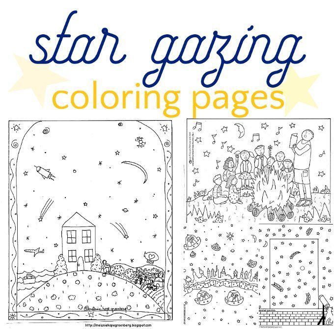 Coloring Pages To Inspire Star Gazing Stargazing Coloring Pages