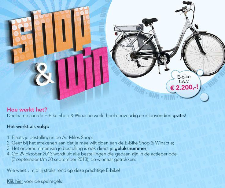 Shop je favoriete cadeau op de Air Miles Shop en maak kans op een E-Bike   by Boost Group (september 2013)