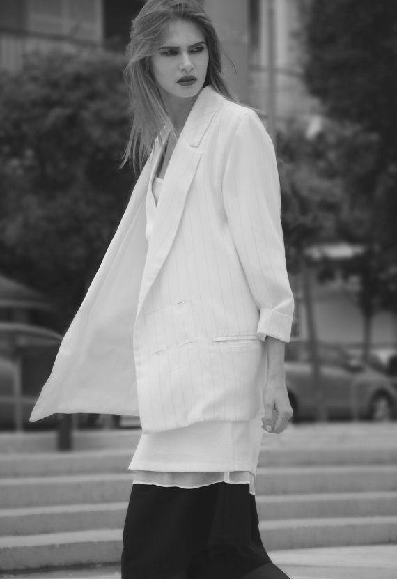 Winter Sale Women blazer loose fit jacket light by JojoBlanc