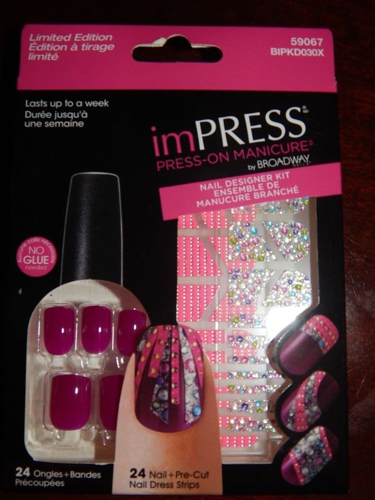 22 best impress nails images on pinterest acrylics kiss broadway impress nails press on manicure nail designer kit tango purple prinsesfo Choice Image