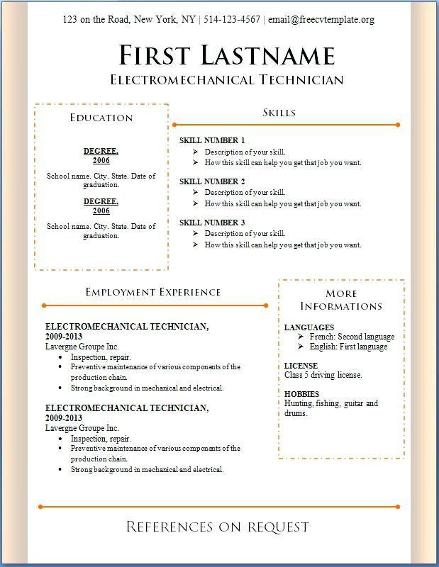 Free Resume Format Downloads Lebenslauf Vorlagen Resume Resumeexamples Re Free Resume Template Word Resume Format Download Free Printable Resume Templates